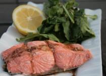 Salmon and Arugula with Lemon-Balsamic Vinaigrette