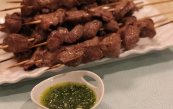 Lamb Kabobs with Mint Chimichurri