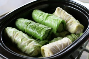 Crock Pot Cabbage Rolls Rolled