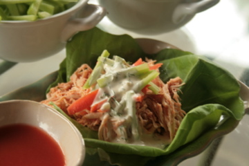 Paleo Table - Buffalo Chicken Lettuce Wraps