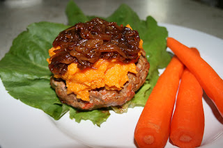 Burgers with Butternut Squash and Caramelized Onion