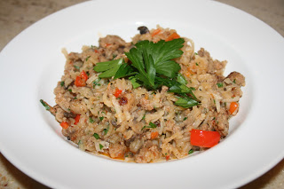 Turnip Risotto with Sausage