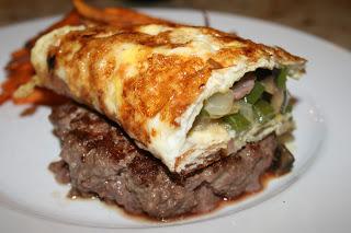 Denver omlette burger