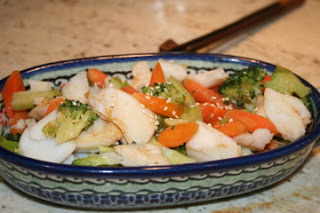 Chinese Takeout Fish with Vegetables