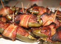 Bacon-Wrapped Jalapenos Stuffed with Chorizo