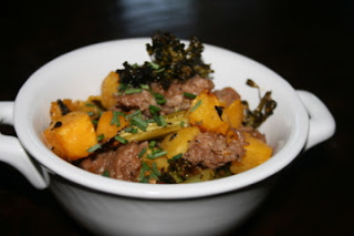 Sausage and Butternut Squash Hash