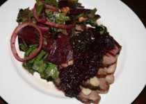 Roasted Lamb with Blackberry Sauce