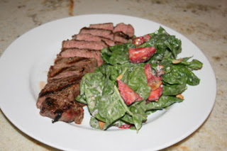 Grilled NY Strip with Strawberry Salad