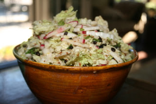 Shredded Napa Cabbage and Radish Salad