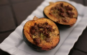 Acorn Squash with Savory Sausage Custard 2