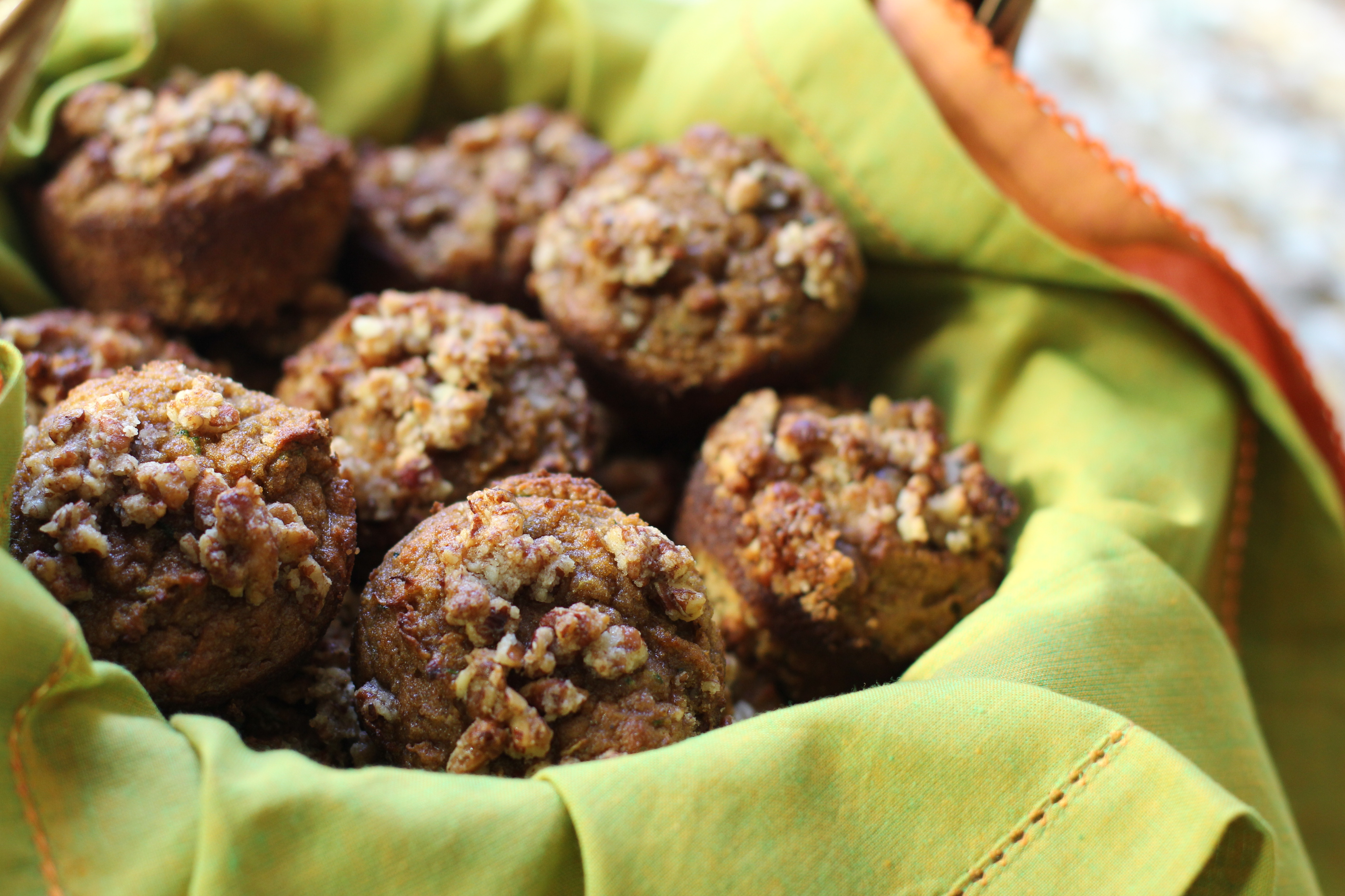 Paleo Table - Pumpkin Zucchini Muffins with Streusel Topping